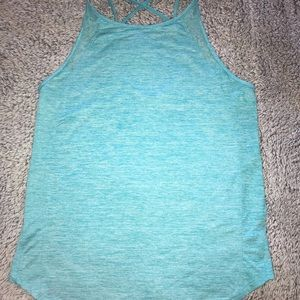 Turquoise athletic tank top